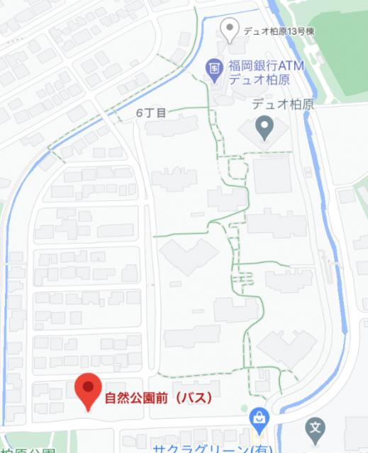 自然公園前 地図